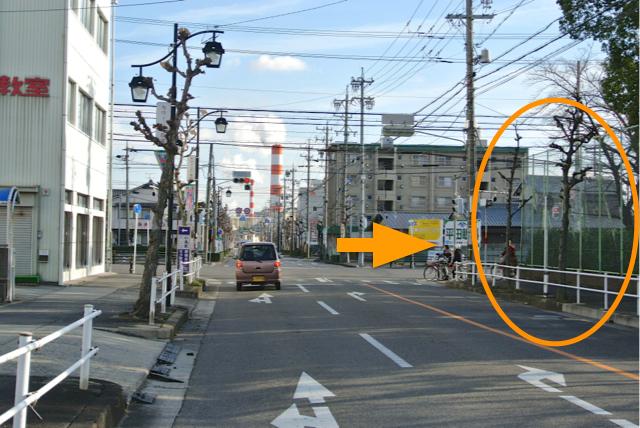 右手の春日井高校を過ぎたところにある「鳥居松町1」の交差点を右折し、旧国道19号へ入る。