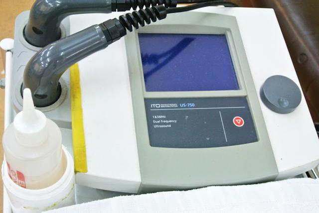 超音波で身体を温め血流を改善する